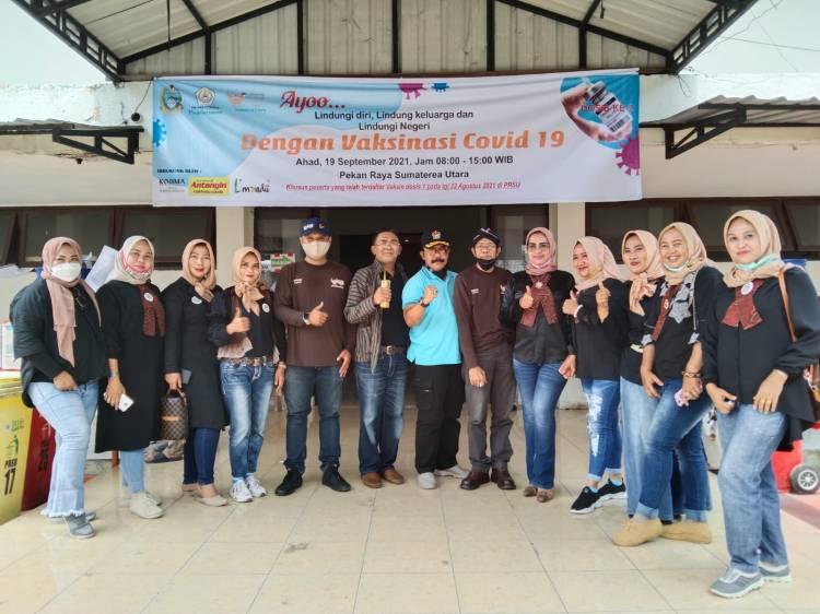 Vaksinasi Massal Komunitas Indonesia Tersenyum Sumut Sukses