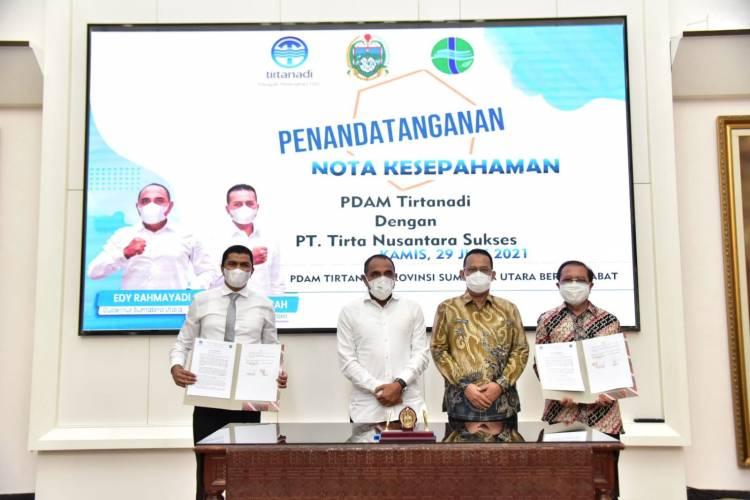 PDAM Tirtanadi Jalin MoU Bangun IPAM di Wilayah Medan Johor
