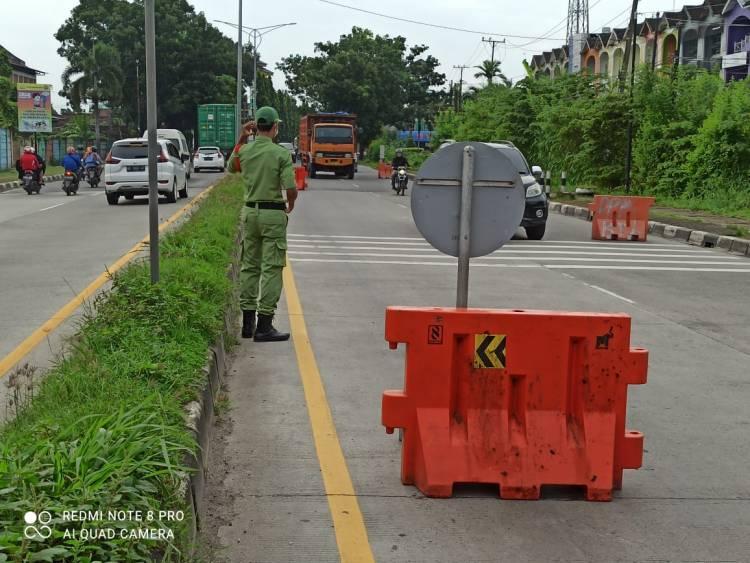 Penyekatan Jalan di Medan Masih Berlangsung