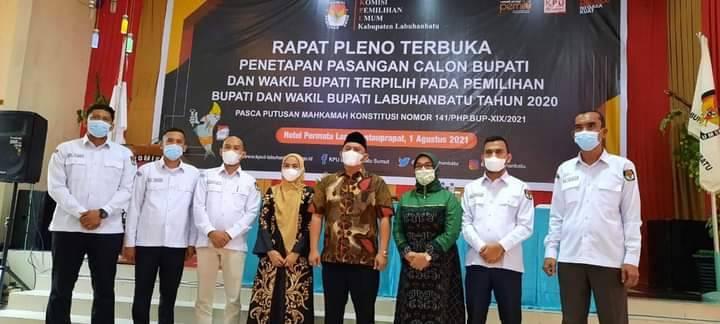 KPU Tetapkan Erik-Ellya Pemenang Pilkada Labuhanbatu