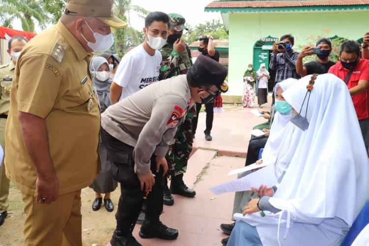 3.800 Warga Medan Ikuti Vaksinasi Merdeka Polri